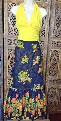 Designer CONTESSA Mermaid Long Floral Skirt Size S