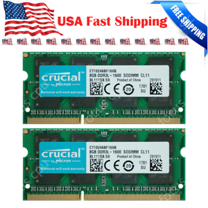 Crucial-16GB-2X-8GB-1600Mhz-For-Apple-Mac-mini-Late-2012-A1347-MD387LL-A-Memory