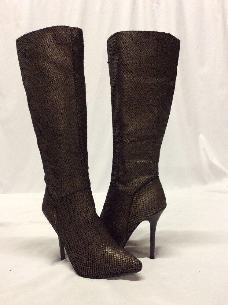 Fergie Damens's Prance Knee- M High Stiefel, Bronze, 6.5 M Knee- 22e008