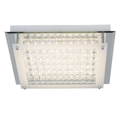 LED Decken Leuchte Lampe DIAMOND dimmbar Fernbedienung CCT chrom transparent NEU