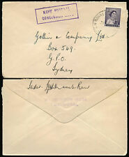 AUSTRALIA NAVY POSTAL CONCESSION HANDSTAMP SHIP BALMORAL