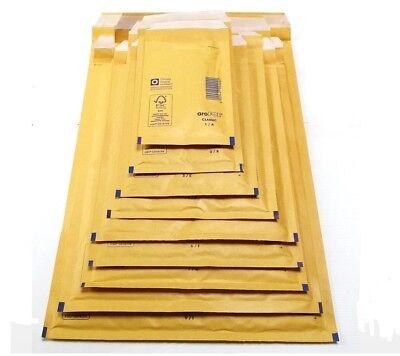 10 X Gold - Gepolsterte Umschläge Luftpolsterfolie 3 / C 17 X 22,5 Cm Postpost Moderate Kosten