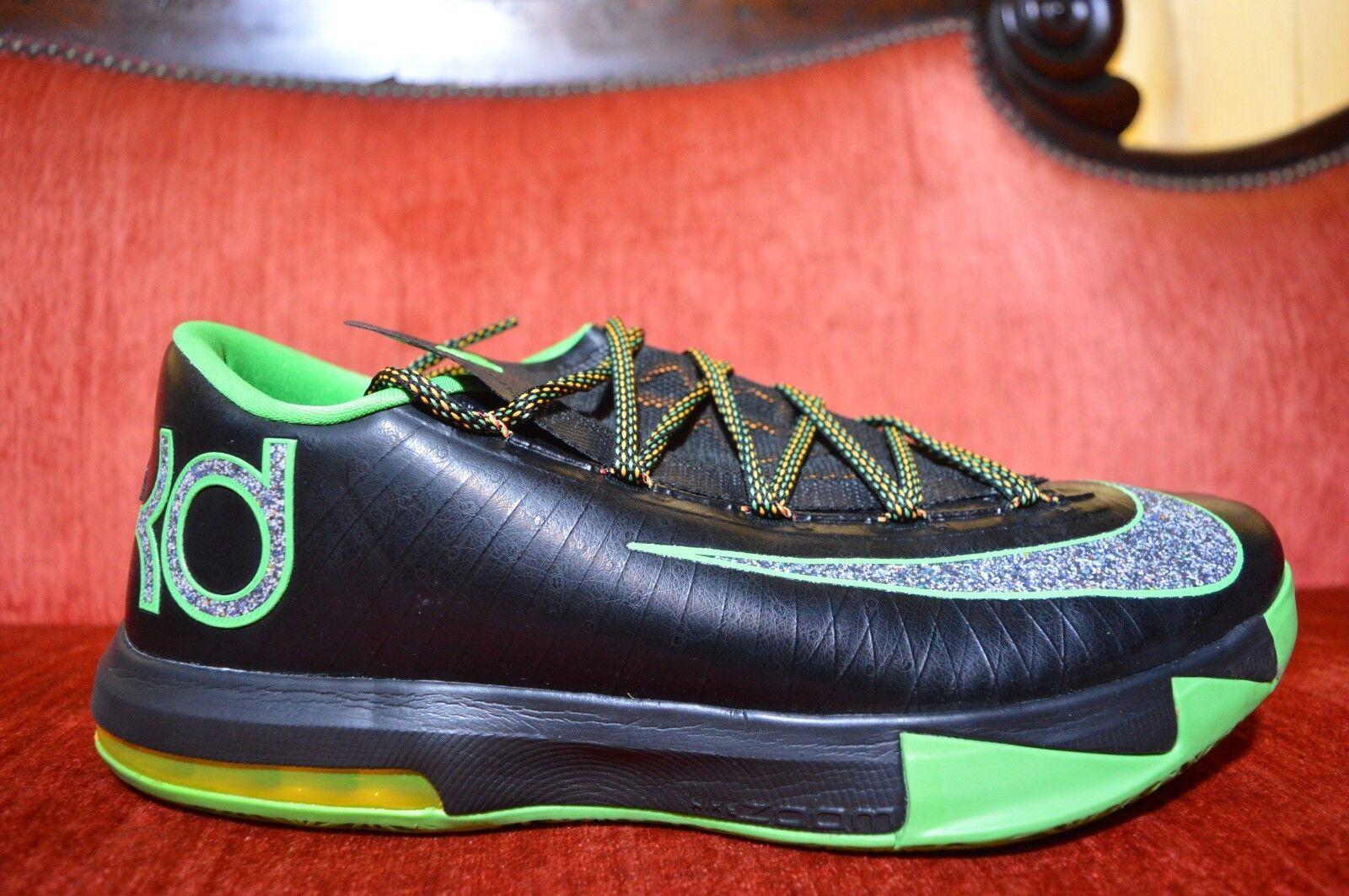 Nike KD 6 VI Basketball Shoes Brazil 10M Black Lucid Green 599424-093 Comfortable
