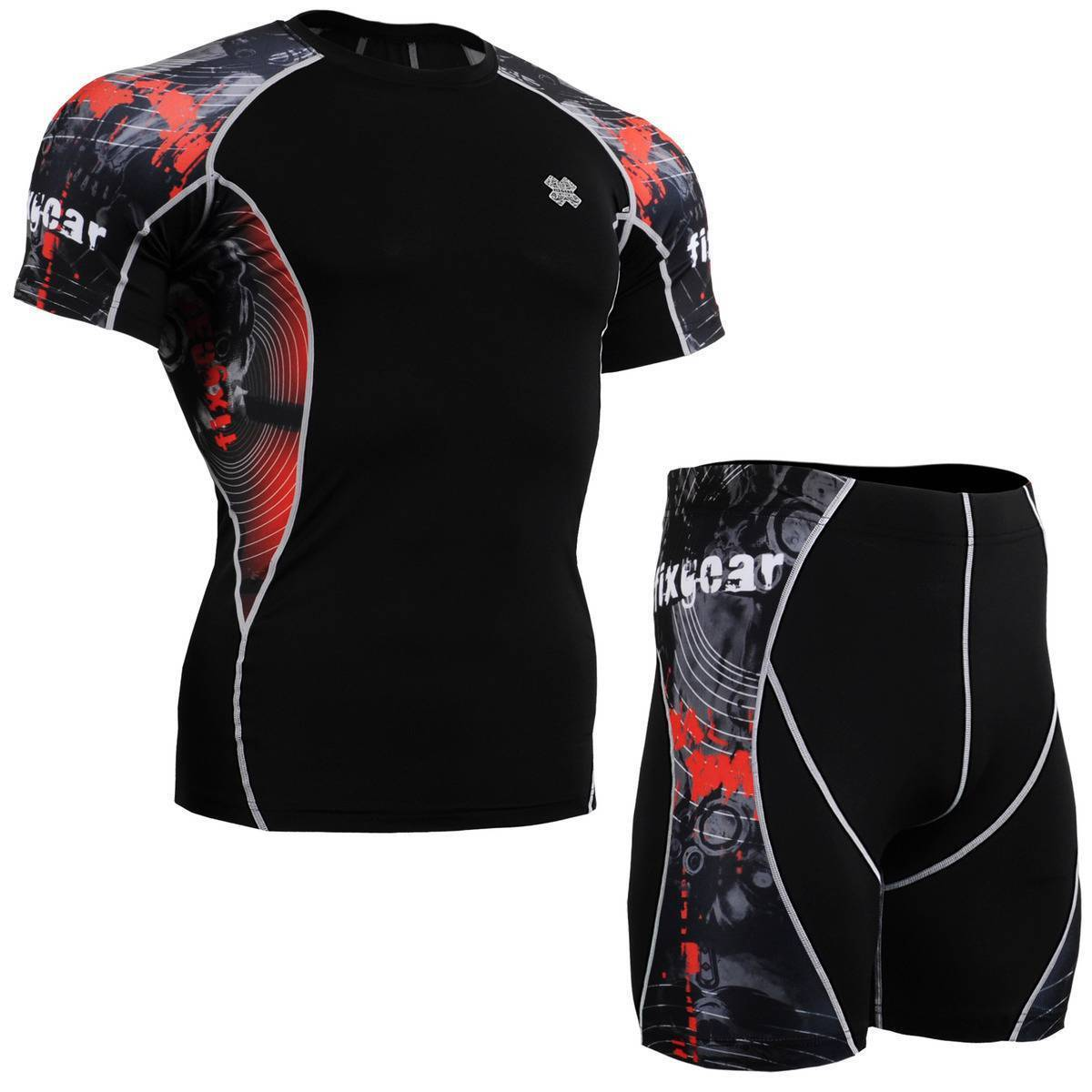 FIXGEAR C2S/P2S-B30 SET Compression Shirts & Shorts Skin-tight MMA Training Gym