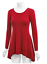 Women-039-s-V-Neck-Ruffle-Hem-top-Long-Sleeve-Double-Layer-Tunic-Top-WT1178 thumbnail 2