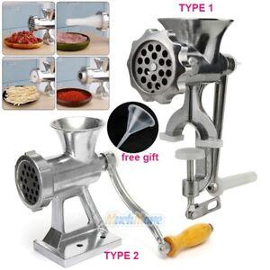 Manual-Hand-Meat-Grinder-Beef-Sausage-Pasta-Maker-Mincer-Table-Kitchen-Gadget-US