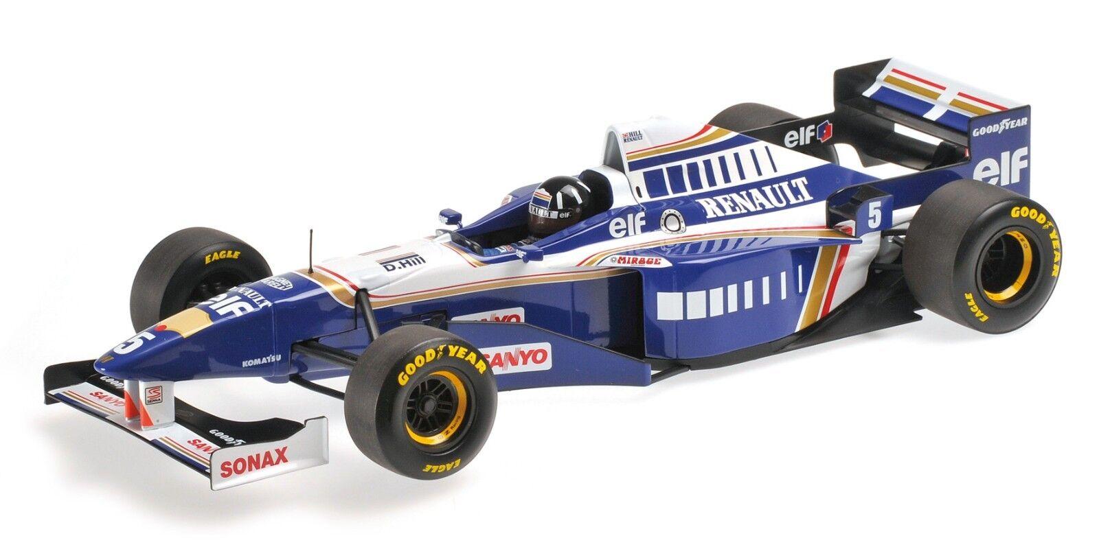 Minichamps 186 960005 williams renault FW18 F1 voiture de course damon hill wc 1996 1 18