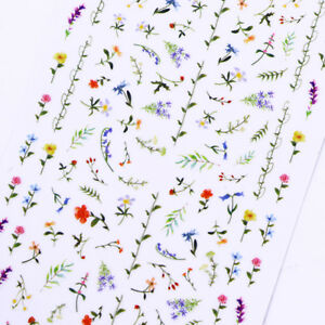 2-Sheets-Flower-3D-Nail-Sticker-Floral-Nail-Art-Adhesive-Transfer-Stickers-Decal