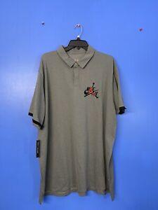 RARE!! Men's Nike Air Jordan Jumpman Classics Polo Shirt CK2228 091 Size XL