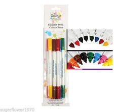 Colour Splash 8 edible food colour pens double sided nib NEXT DAY DESPATCH