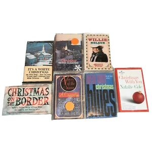 Lot of 9 Christmas Music Cassette Tapes Various Artist Blues Country