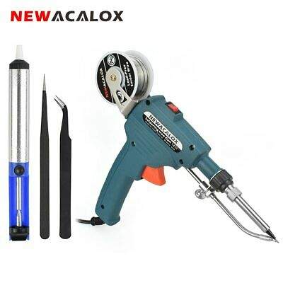 60W 220V  Auto Send Tin Soldering Iron Electric Welding Tool Mains Powered UK
