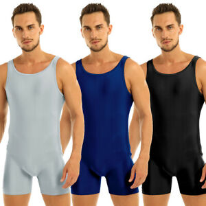 Hot-Mens-Stretchy-Bodysuit-Underwear-Singlet-Dance-Gym-Leotard-Unitard-Jumpsuits