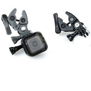 Set picatinny rifle fishing pole scope clip clamp mount fr for Gopro fishing mounts