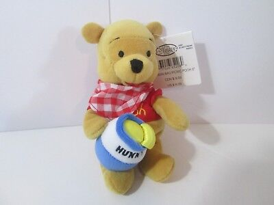 "Disney Store Picnic Pooh Bean Bag Plush 8"" Winnie the Pooh and Friends NWT"