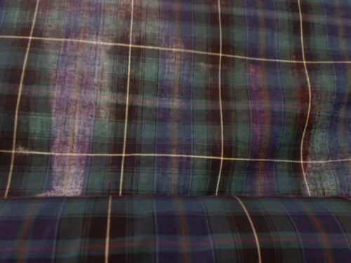 6m high quality Titan poly Cotton checked Fabric, 1m40 width