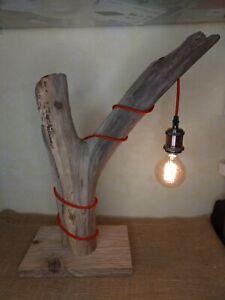 Lampe Bois Flotte 40x58cm Socle 30x19cm Faite Main Ebay