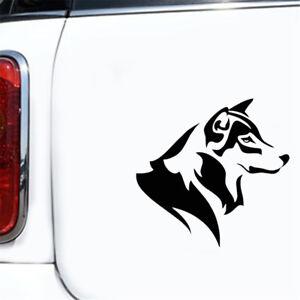 Husky Dog Car Sticker Figure Auto Truck Window Wall Laptop Motorbike