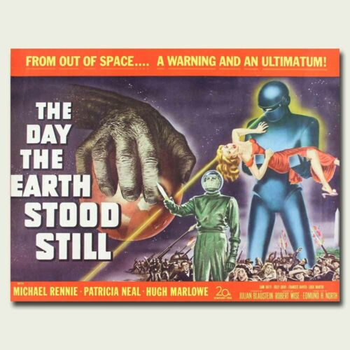 The Day the Earth Stood Still 12x15inch 1951 Old Movie Silk Poster