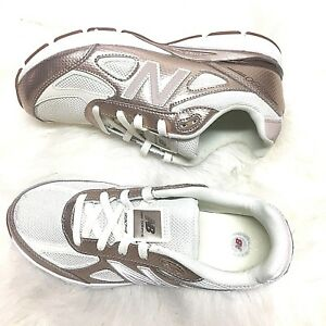 new product 38114 7c353 New Balance Women's Youth 990v4 Shoes Gold with Off White 7 ...
