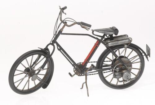 Antik-Vintage-Retro-Style Modellfahrrad aus Blech Fahrrad mit Motor schwarz