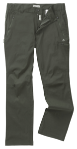 Dark Khaki Craghoppers Kiwi Pro Active Stretch Trousers