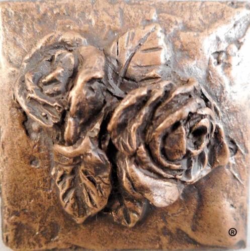 Bronze Rose Decorative Metal Dot (METAL TILE ARTS MANUFACTURING)