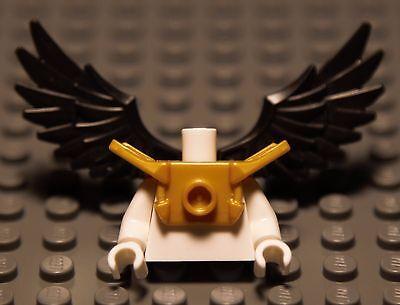 Lego Chima x1 Black Wings Gold Armor Shoulder Pads Minifigure Bird Angel NEW