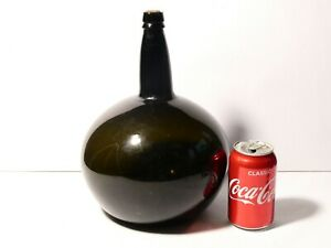 Antique Mid 19thC Large Free Blown Chemist / Wine Demijohn Bottle 29cm L@@K