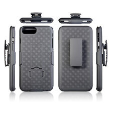 iPhone 7 Plus 5.5 inch Rugged Slide Belt Clip Holster Case Cover w/ Kickstand