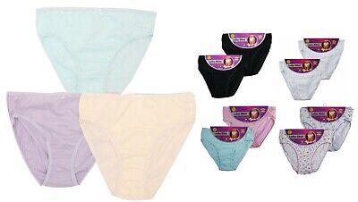 12 x Ladies Girls Women Comfort 100/% Cotton Underwear Bikini Briefs Knicker pure