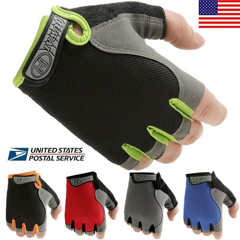 Half Finger Breathable Bike Gloves Anti Skid Gel Padded Sports Cycling Gloves US