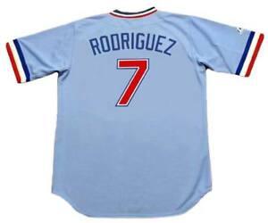 00584f82eff IVAN RODRIGUEZ Texas Rangers 1980 s Majestic Cooperstown Baseball ...
