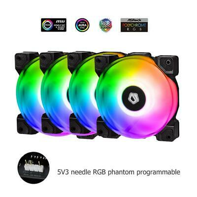 ID-COOLING ZF-12025-RGB-TRIO RGB Sync with Asus//MSI//Gigabyte motherboards PMW