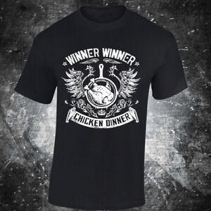 SKU29-WINNER-WINNER-CHICKEN-DINNER-t-shirt-yes-gamer-game-ps4-xbox-pubg