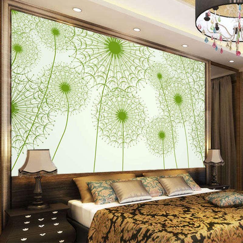 Grün Dandelion 3D Full Wall Mural Photo Wallpaper Printing Home Kids Decoration
