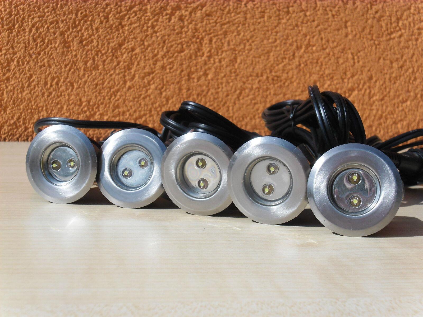 Heissner 5er Set Led Einbaulicht L169-T 12V 0 3 W Edelstahl beliebig erweiterbar