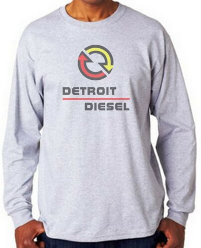 Detroit Diesel Long Sleeve T-shirt XXXL  100/% Heavy Cotton Small White,Gray