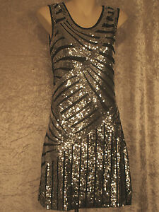 1920-Great-Gatsby-Style-Flapper-Party-Dress-Art-Deco-Sequins-Night-Club-Wear-M