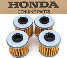 New Genuine Honda 4 Oil Filters CRF150R 250 450 R X TRX450R ER (See Notes) #X67