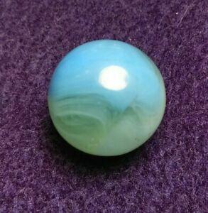 "UV Opal BLUE Easter Bunny Conqueror Phantom Vitro Agate Vintage Marbles .66"""