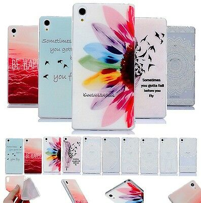 For Apple Sony Cartoon Painted Silicone Ultra Thin Soft TPU Case Cover Skin Back