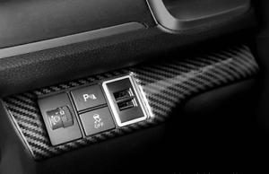 ABS Carbon Fiber Interior Headlamp Switch Frame Trim For Honda CIVIC 2016-2018