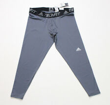 NWT Men's Adidas Tech Fit Climalite Compression Base Tight Gray Size XXL -- 2XL