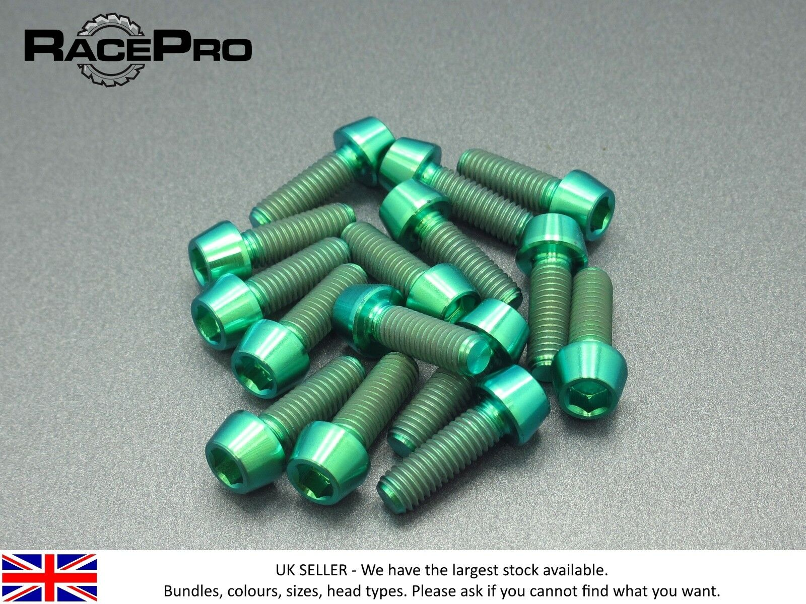 RACEPRO - 10 x tornillo cónico de Titanio GR5-M6 25mm 1mm - Cabeza Hexagonal -