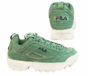 Fila Disruptor S Low Green White Suede