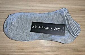 Honey New Women's Olivia & Joy New York Brand Ankle Socks - 6 Pack White & Grey High Quality Materials