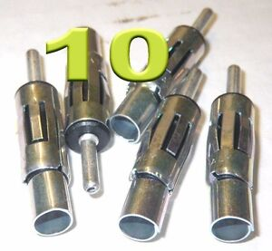 10 LOT Motorola Female Car radio antenna Connector Crimp /& Solder RG-58 RG-62
