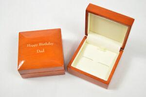 Image is loading Personalised-wood-cufflink-box-wooden -groom-husband-birthday- & Personalised wood cufflink box wooden groom husband birthday ... Aboutintivar.Com