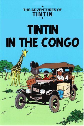 Vintage Tintin In The Congo Poster A4//A3//A2//A1 Print